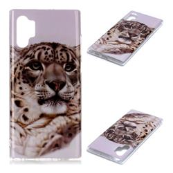 White Leopard Soft TPU Cell Phone Back Cover for Samsung Galaxy Note 10+ (6.75 inch) / Note10 Plus