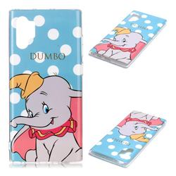 Dumbo Elephant Soft TPU Cell Phone Back Cover for Samsung Galaxy Note 10+ (6.75 inch) / Note10 Plus