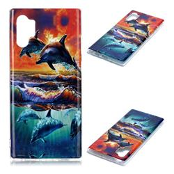 Flying Dolphin Soft TPU Cell Phone Back Cover for Samsung Galaxy Note 10+ (6.75 inch) / Note10 Plus