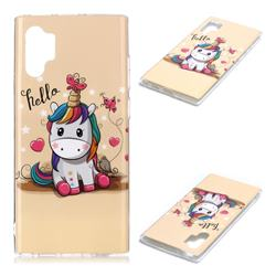 Hello Unicorn Soft TPU Cell Phone Back Cover for Samsung Galaxy Note 10+ (6.75 inch) / Note10 Plus