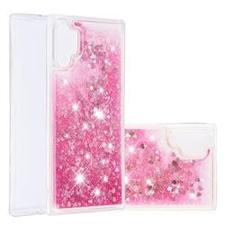 Dynamic Liquid Glitter Quicksand Sequins TPU Phone Case for Samsung Galaxy Note 10+ (6.75 inch) / Note10 Plus - Rose