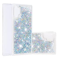Dynamic Liquid Glitter Quicksand Sequins TPU Phone Case for Samsung Galaxy Note 10+ (6.75 inch) / Note10 Plus - Silver