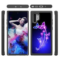 Dancing Butterflies Shock Absorbing Hybrid Defender Rugged Phone Case Cover for Samsung Galaxy Note 10+ (6.75 inch) / Note10 Plus