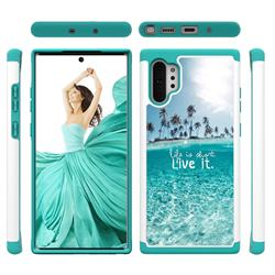 Sea and Tree Shock Absorbing Hybrid Defender Rugged Phone Case Cover for Samsung Galaxy Note 10+ (6.75 inch) / Note10 Plus