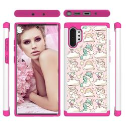Pink Pony Shock Absorbing Hybrid Defender Rugged Phone Case Cover for Samsung Galaxy Note 10+ (6.75 inch) / Note10 Plus
