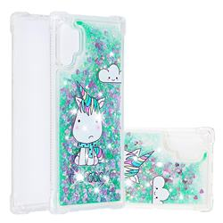 Tiny Unicorn Dynamic Liquid Glitter Sand Quicksand Star TPU Case for Samsung Galaxy Note 10+ (6.75 inch) / Note10 Plus