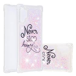 Never Stop Dreaming Dynamic Liquid Glitter Sand Quicksand Star TPU Case for Samsung Galaxy Note 10+ (6.75 inch) / Note10 Plus