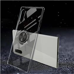Anti-fall Invisible Press Bounce Ring Holder Phone Cover for Samsung Galaxy Note 10+ (6.75 inch) / Note10 Plus - Elegant Black