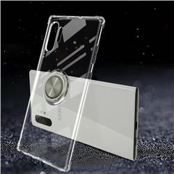 Anti-fall Invisible Press Bounce Ring Holder Phone Cover for Samsung Galaxy Note 10+ (6.75 inch) / Note10 Plus - Transparent