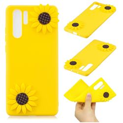 Yellow Sunflower Soft 3D Silicone Case for Samsung Galaxy Note 10 Pro (6.75 inch) / Note 10+