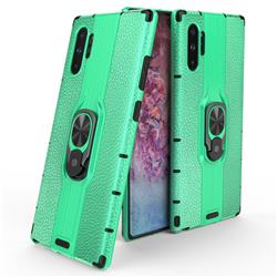 Alita Battle Angel Armor Metal Ring Grip Shockproof Dual Layer Rugged Hard Cover for Samsung Galaxy Note 10+ (6.75 inch) / Note10 Plus - Green