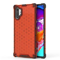 Honeycomb TPU + PC Hybrid Armor Shockproof Case Cover for Samsung Galaxy Note 10+ (6.75 inch) / Note10 Plus - Red