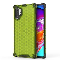 Honeycomb TPU + PC Hybrid Armor Shockproof Case Cover for Samsung Galaxy Note 10+ (6.75 inch) / Note10 Plus - Green