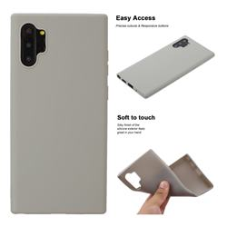 Soft Matte Silicone Phone Cover for Samsung Galaxy Note 10+ (6.75 inch) / Note10 Plus - Gray