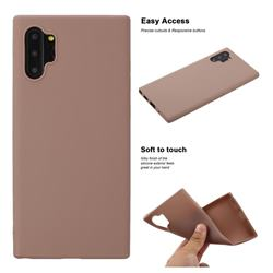 Soft Matte Silicone Phone Cover for Samsung Galaxy Note 10+ (6.75 inch) / Note10 Plus - Khaki