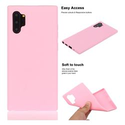 Soft Matte Silicone Phone Cover for Samsung Galaxy Note 10+ (6.75 inch) / Note10 Plus - Rose Red