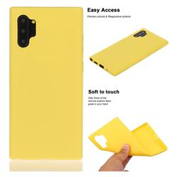 Soft Matte Silicone Phone Cover for Samsung Galaxy Note 10+ (6.75 inch) / Note10 Plus - Yellow