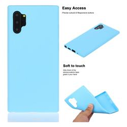 Soft Matte Silicone Phone Cover for Samsung Galaxy Note 10+ (6.75 inch) / Note10 Plus - Sky Blue