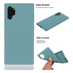 Soft Matte Silicone Phone Cover for Samsung Galaxy Note 10+ (6.75 inch) / Note10 Plus - Lake Blue