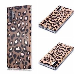 Leopard Galvanized Rose Gold Marble Phone Back Cover for Samsung Galaxy Note 10 Pro (6.75 inch) / Note 10+