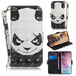 Angry Bear 3D Painted Leather Wallet Phone Case for Samsung Galaxy Note 10+ (6.75 inch) / Note10 Plus