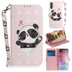 Heart Cat 3D Painted Leather Wallet Phone Case for Samsung Galaxy Note 10+ (6.75 inch) / Note10 Plus