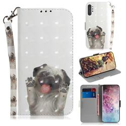 Pug Dog 3D Painted Leather Wallet Phone Case for Samsung Galaxy Note 10+ (6.75 inch) / Note10 Plus