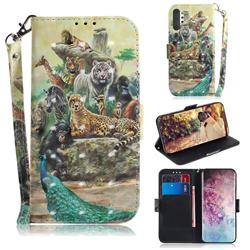 Beast Zoo 3D Painted Leather Wallet Phone Case for Samsung Galaxy Note 10+ (6.75 inch) / Note10 Plus