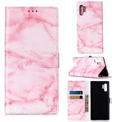 Pink Marble PU Leather Wallet Case for Samsung Galaxy Note 10+ (6.75 inch) / Note10 Plus