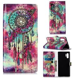 Butterfly Chimes PU Leather Wallet Case for Samsung Galaxy Note 10+ (6.75 inch) / Note10 Plus