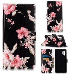 Azalea Flower PU Leather Wallet Case for Samsung Galaxy Note 10+ (6.75 inch) / Note10 Plus