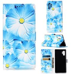 Orchid Flower PU Leather Wallet Case for Samsung Galaxy Note 10+ (6.75 inch) / Note10 Plus