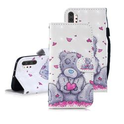 Love Panda 3D Painted Leather Wallet Phone Case for Samsung Galaxy Note 10+ (6.75 inch) / Note10 Plus