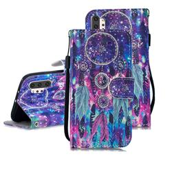 Star Wind Chimes 3D Painted Leather Wallet Phone Case for Samsung Galaxy Note 10+ (6.75 inch) / Note10 Plus