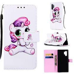 Playful Pony Matte Leather Wallet Phone Case for Samsung Galaxy Note 10+ (6.75 inch) / Note10 Plus