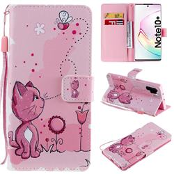 Cats and Bees PU Leather Wallet Case for Samsung Galaxy Note 10+ (6.75 inch) / Note10 Plus