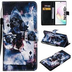 Skull Magician PU Leather Wallet Case for Samsung Galaxy Note 10+ (6.75 inch) / Note10 Plus