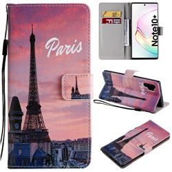 Paris Eiffel Tower PU Leather Wallet Case for Samsung Galaxy Note 10+ (6.75 inch) / Note10 Plus