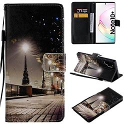 City Night View PU Leather Wallet Case for Samsung Galaxy Note 10+ (6.75 inch) / Note10 Plus