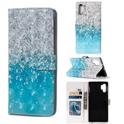 Sea Sand 3D Painted Leather Phone Wallet Case for Samsung Galaxy Note 10+ (6.75 inch) / Note10 Plus