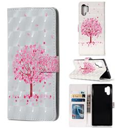 Sakura Flower Tree 3D Painted Leather Phone Wallet Case for Samsung Galaxy Note 10+ (6.75 inch) / Note10 Plus