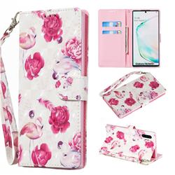 Flamingo 3D Painted Leather Wallet Phone Case for Samsung Galaxy Note 10 Pro (6.75 inch) / Note 10+