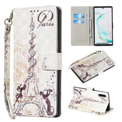 Tower Couple 3D Painted Leather Wallet Phone Case for Samsung Galaxy Note 10 Pro (6.75 inch) / Note 10+