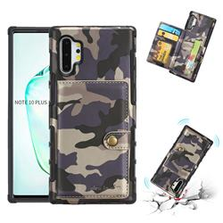 Camouflage Multi-function Leather Phone Case for Samsung Galaxy Note 10 Plus (6.75 inch) / Note 10+ - Gray