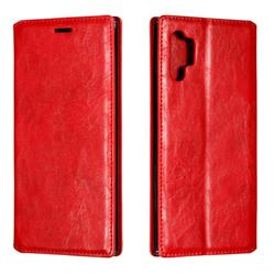Retro Slim Magnetic Crazy Horse PU Leather Wallet Case for Samsung Galaxy Note 10 Pro (6.75 inch) / Note 10+ - Red