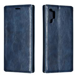 Retro Slim Magnetic Crazy Horse PU Leather Wallet Case for Samsung Galaxy Note 10 Pro (6.75 inch) / Note 10+ - Blue