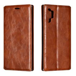 Retro Slim Magnetic Crazy Horse PU Leather Wallet Case for Samsung Galaxy Note 10 Pro (6.75 inch) / Note 10+ - Brown