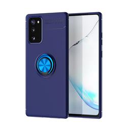 Auto Focus Invisible Ring Holder Soft Phone Case for Samsung Galaxy Note 20 - Blue