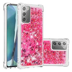 Dynamic Liquid Glitter Sand Quicksand TPU Case for Samsung Galaxy Note 20 - Pink Love Heart