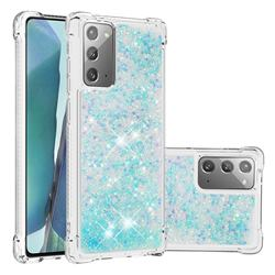 Dynamic Liquid Glitter Sand Quicksand TPU Case for Samsung Galaxy Note 20 - Silver Blue Star